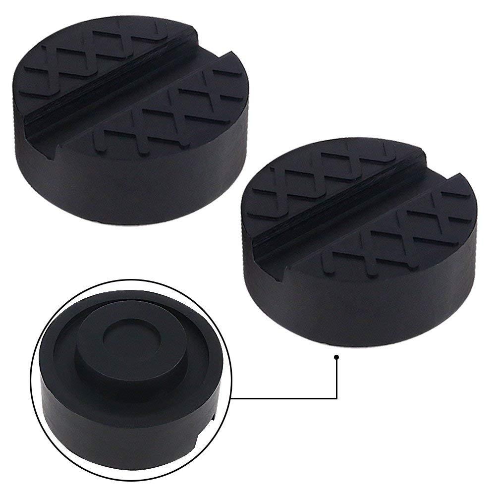 Kindax 2pcs Goma Gato Hidraulico Bloque de Goma Universal Protector para Elevador Coche Negro