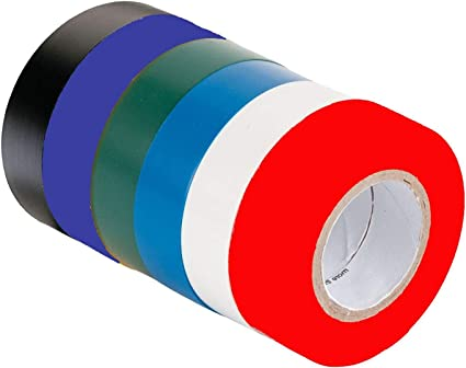 PVC électrique ruban isolant 9 m x 18 mm Flamme Retardant le Noir Isolation Bandes