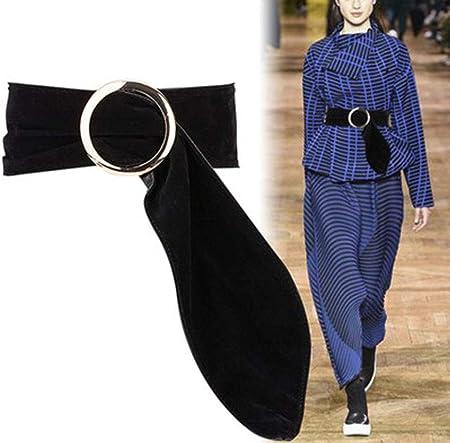 Faja De Tela De Terciopelo con Hebilla Redonda, Camisa Decorativa Ancha para Mujer Cinturón De Vestir con Suéter Grande: Amazon.es: Hogar