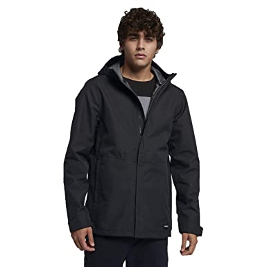 5c88c942fa9 Amazon.com  Hurley Men s JJF Outrider 3 Shell Hooded Jacket  Clothing