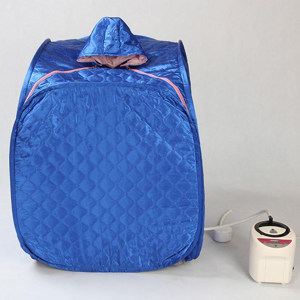 &Entgiftung Weites Infrarot-Haus Khan Dampfbad / Single Entgiftung Saunakasten / Begasung Maschine abnehmen ( Farbe : Blau ) LYM