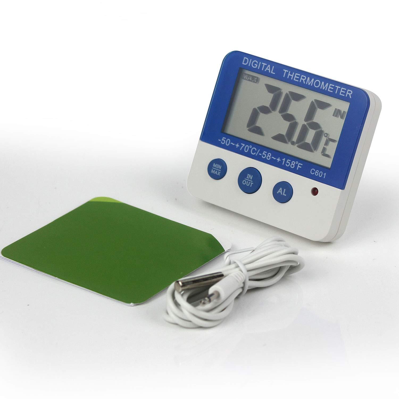 Ytian Digital Gefrierschrank//K/ühlschrank Thermometer mit LED Alarm Indikator Max//Min Speicher Gefrierschrank Thermometer f/ür Haus K/üche Restaurants Bars Cafes