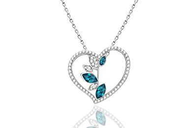70d7ac30e1 Buy Swarovski Intimacy Crystal Fashion Jewellery Pendants Locket Necklace  Set for Girls and Women Online at Low Prices in India | Amazon Jewellery  Store ...