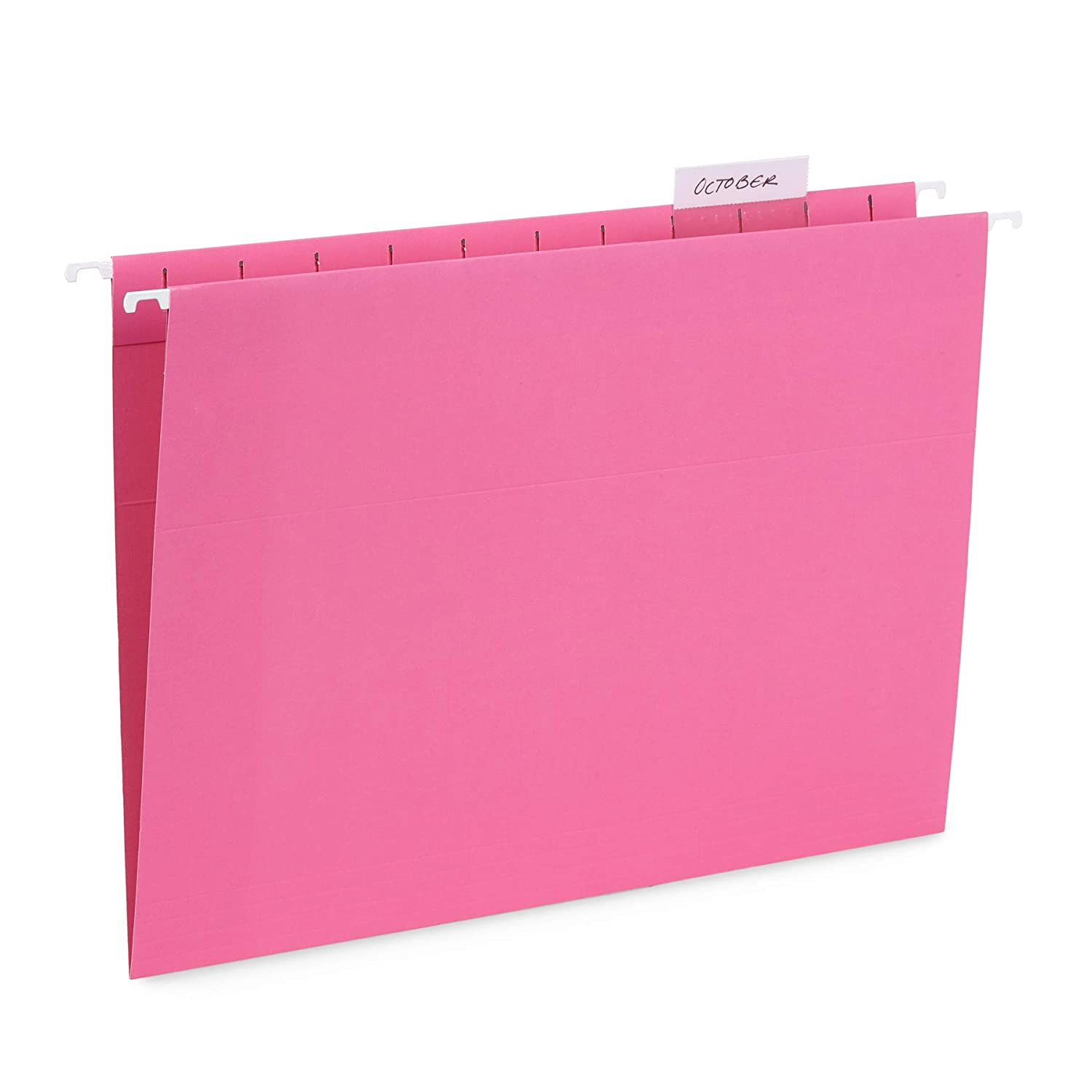 Blue Summit Supplies Hanging File Folders, 25 Reinforced Hang Folders, Designed for Home and Office Color Coded File Organization, Letter Size, Pink, 25 Pack