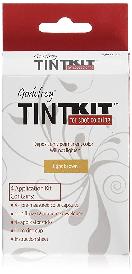 Godefroy Instant Eyebrow Tint Permanent Eyebrow Color Kit, Light ...