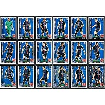 Topps Champions League Match Attax 15/16 Paris Saint Germain Team Base Set 2015/2016 Including Star Player & Duo Trading Cards