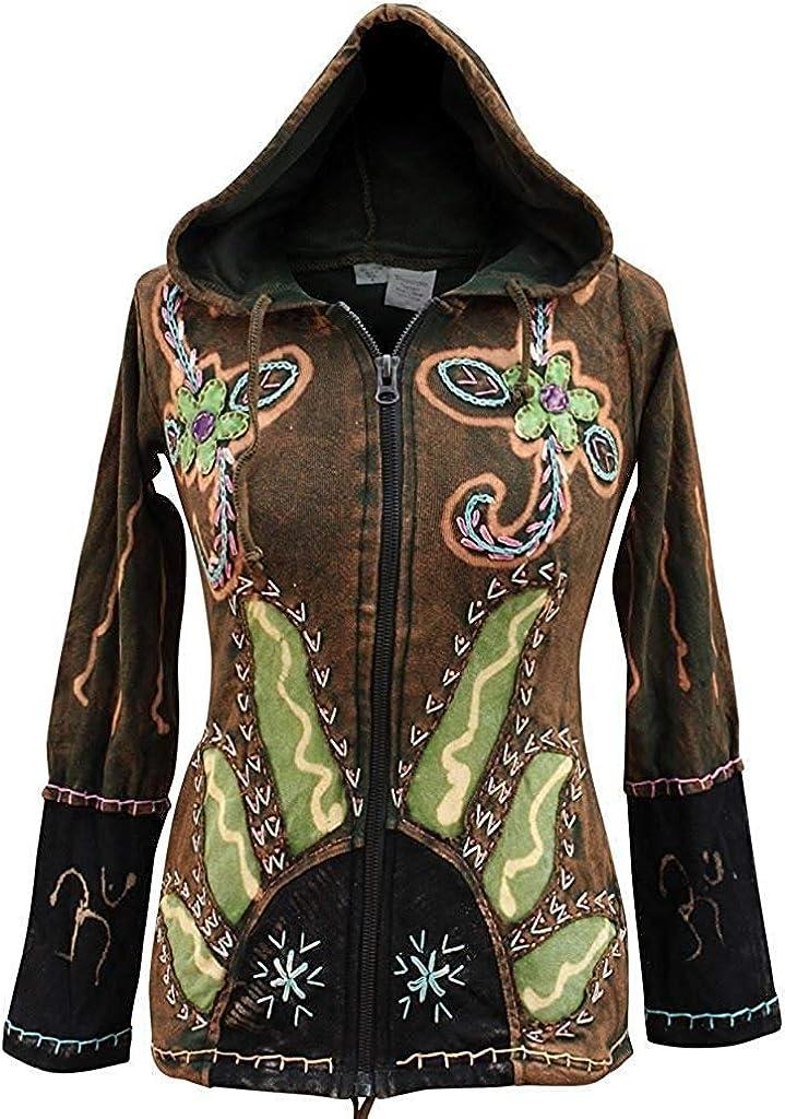 shopoholic FASHION DONNA SOLE FIAMME Hippie gotico giacca cappuccio
