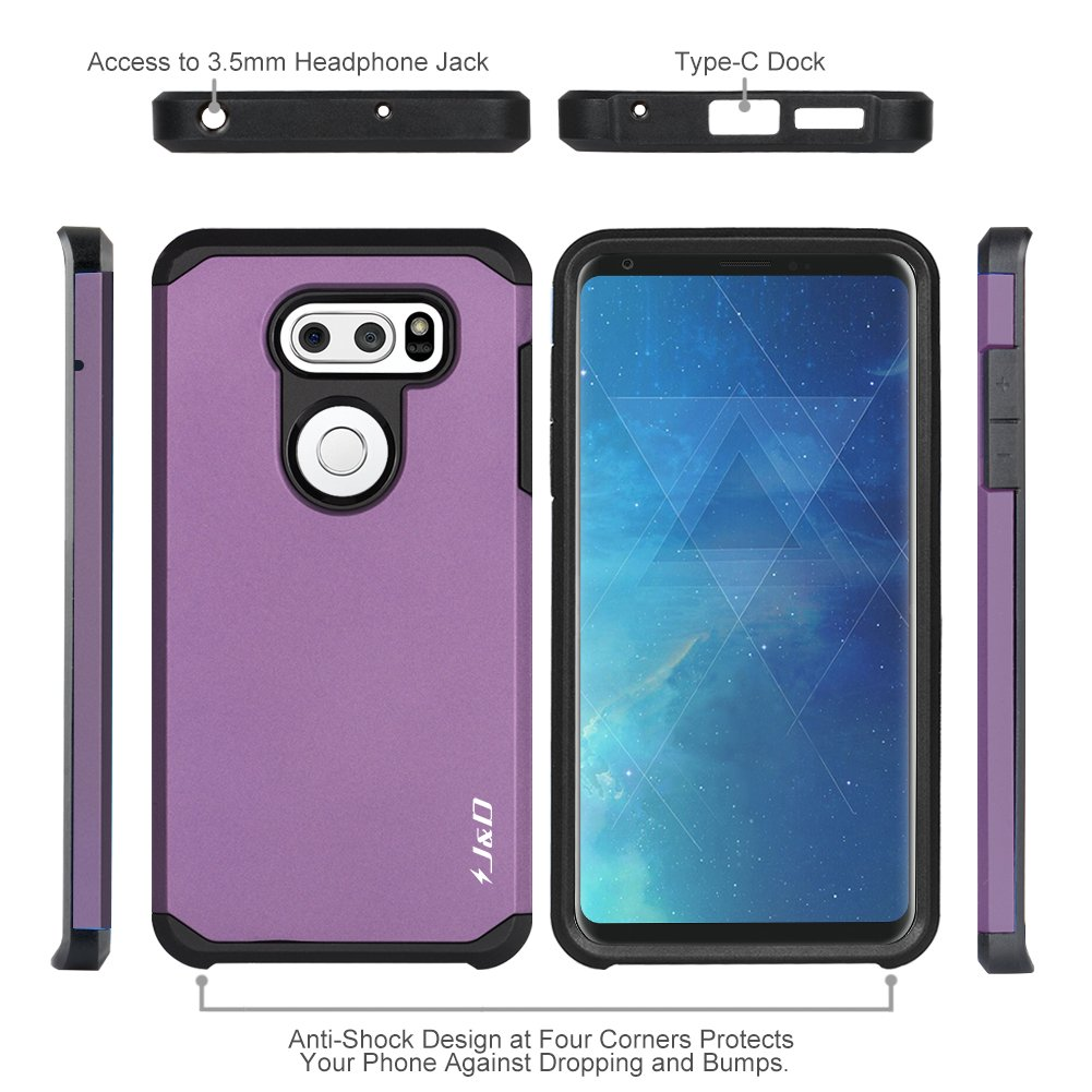 Jd Case Compatible For Lg V35 Thinq Hardcase Anti Shock Caseology Vanvo Iphone 6 Plus Black V30s V30 Heavy Duty Dual Layer Hybrid Proof
