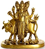 The Holy Saint Dattatreya - Brass Sculpture