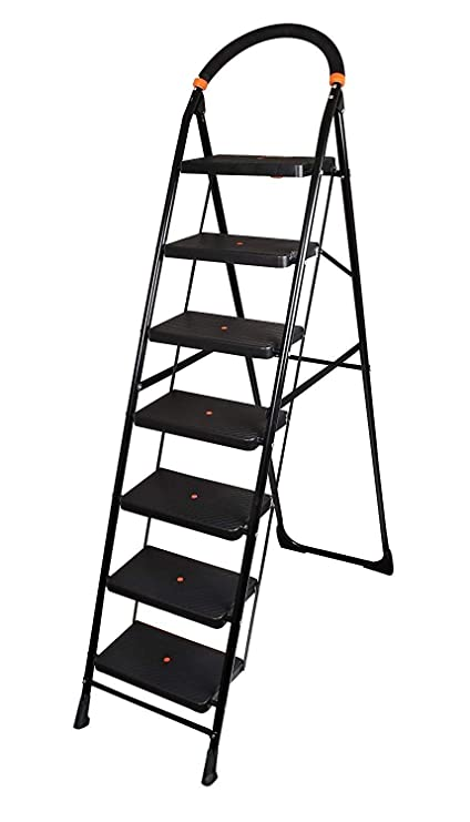 Truphe Anti Skid Foldable Ladder 7 Step Ladder for Home Use Foldable Home Ladder 7 Step Ladder for Office Folding Ladder 7 Step Ladders