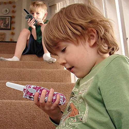 Qniglo Walkie Talkies for Kids, 22 Channels Two Way Radio 3 Miles Long Range Kids Walkie Talkies, Birthday Christmas Gifts Toys Walkie Talkie for Boys Girls (Camo, 1 Pair)