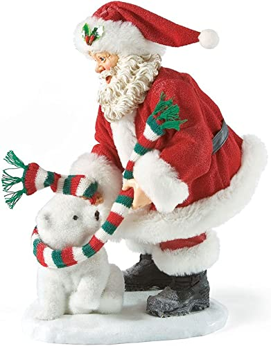 Department 56 Possible Dreams Polar Fleece Santa, 10 inch