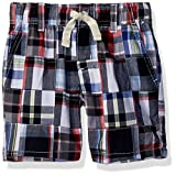 Gymboree Little Boys' Drawstring Patchwork Shorts, Multi Plaid, 8