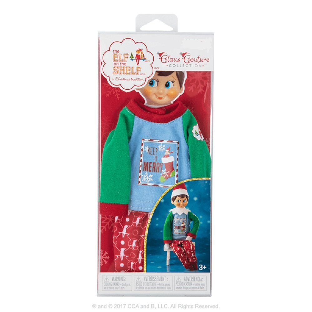 Exclusive 2017 The Elf on the Shelf Claus Couture Collection Keep it Merry PJs CCA /& B SG/_B075TT25QJ/_US