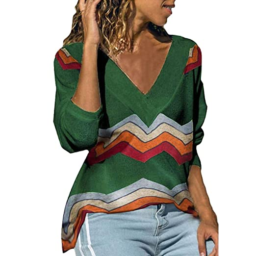 a4621d075c886 VonVonCo Pullover Sweaters for Women, Women's Fashion Causal V-Neck ...