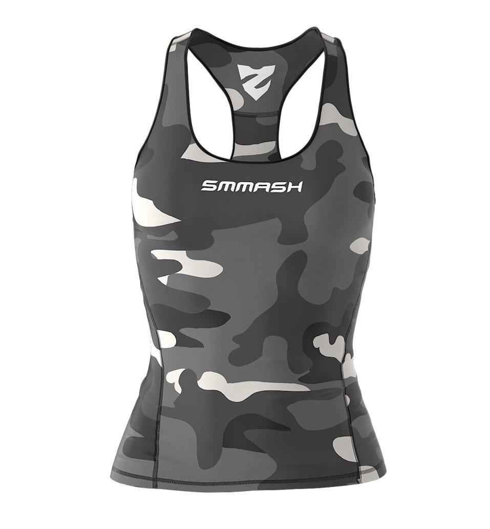 SMMASH X-WEAR Smmash Damen Compression Fit Tank Top CAMO