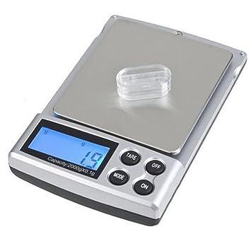 Báscula Digital para Cocina de Acero Inoxidable, 2000g - 0.1g, balanza de alimentos multifuncional: Amazon.es: Hogar