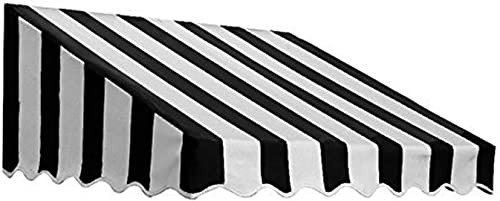 6.38 ft. Wide San Francisco Window/Entry Awning 24 in. H x 42 in. D Black/White