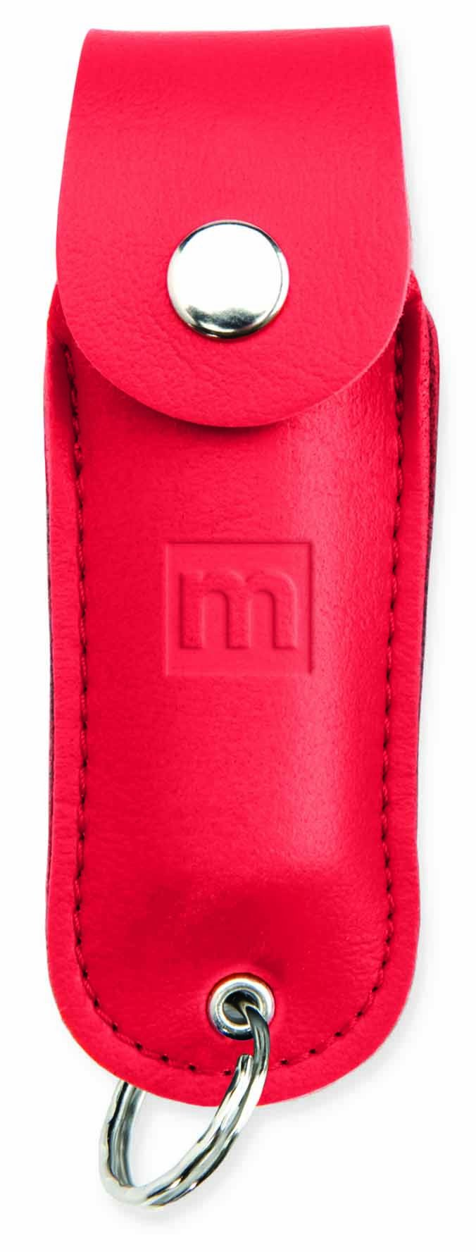 Mace Brand Police Strength Pepper Spray 10% Formula With Leather Key Case (Red)