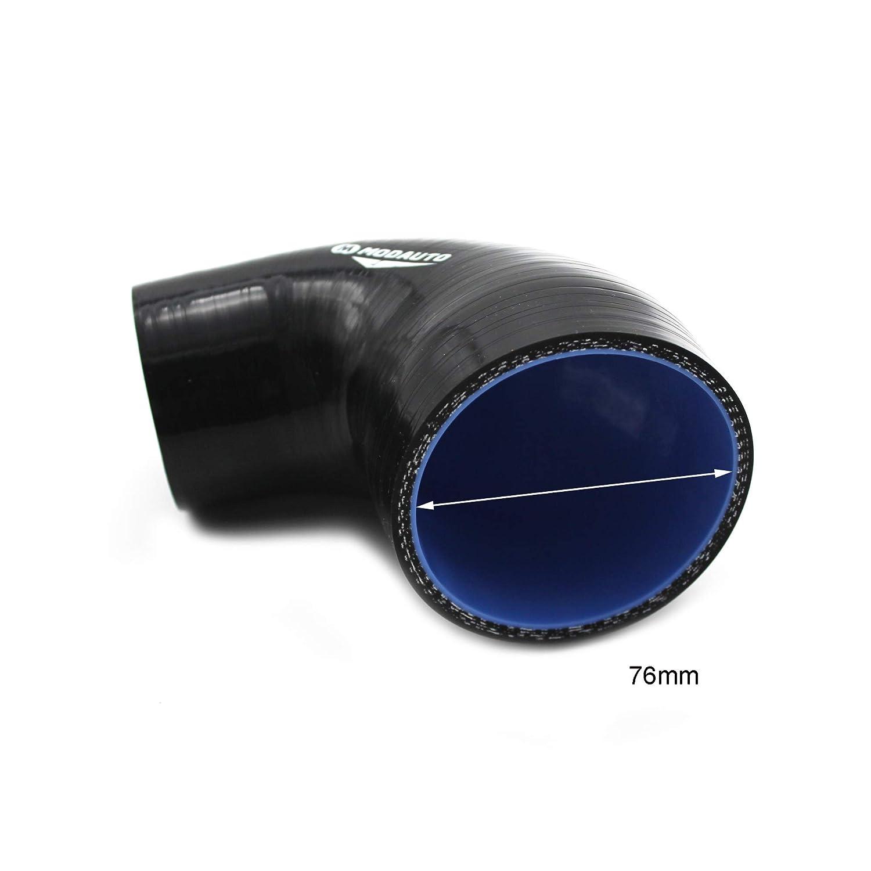 Alto Rendimiento Longitud 90mm Universal Diametro 63-70 mm Modelo E370B 3//4 Capas Angulo 90/º Tubo Reductor de Silicona MODAUTO Manguera de Silicona Acoplador