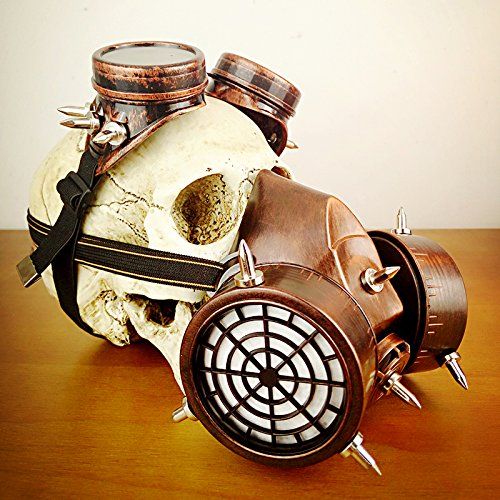 Steampunk Glasses Gas Masks Goggles Cosplay Props Gothic Anti-Fog Haze Men and Women Mask