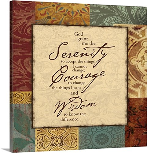Thick-Wrap Canvas Wall Art Print entitled Serenity Prayer