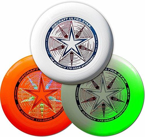 Discraft 175g Ultimate Disc Bundle (3 Discs) White, Orange & Glow
