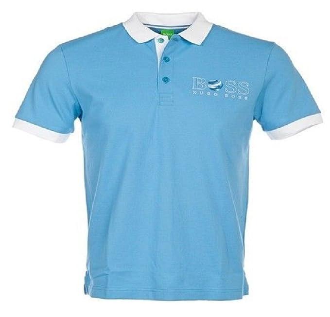BOSS Hugo Camiseta - Clásico - Hombre Azul Azul M: Amazon.es: Ropa ...