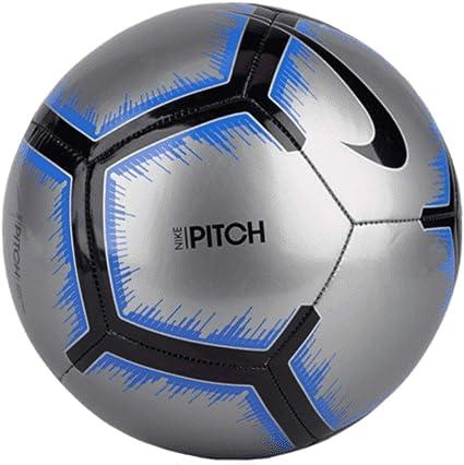 emocional Permanecer de pié Órgano digestivo  Amazon.com: Nike Pitch - Balón de fútbol, Plateado, 4: Sports & Outdoors