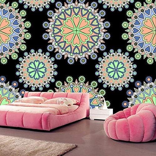 山笑の美 大規模な3d壁画、レトロなテクスチャの網目模様の壁紙papel de parede、リビングルームのテレビの背景ソファ壁寝室の壁紙壁画-150X130cm