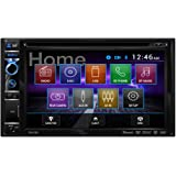 Dual DV615B Double DIN with 6.2-inch LCD Touchscreen DVD CD Receiver with Built-In Bluetooth
