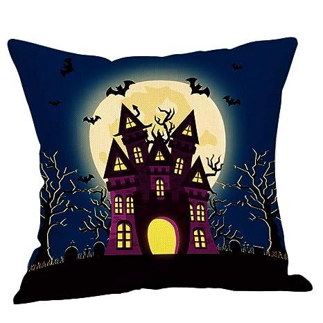 JUNMAONO Halloween Fundas de Almohada Fundas de Cojin con ...