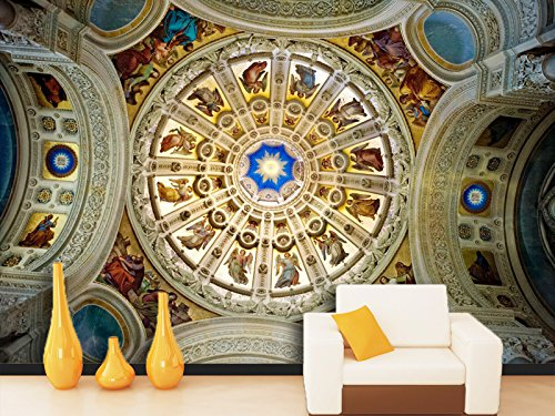 3D Luxury Ceiling 4 Wall Paper Print Decal Deco Indoor Wall Mural Self-adhesive Wallpaper AJ WALLPAPER US Carly (Vinyl (No Glue & Removable), XXL 312cm x 219cm (WxH)【123 inches x 87 inches】) by AJ WALLPAPER (Image #1)