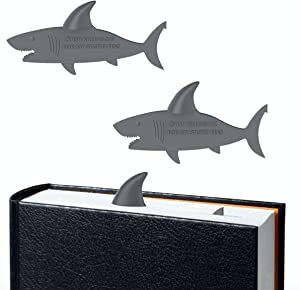 2Pcs Shark Bookmark Cute Page Marker by Taygate Design