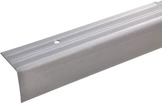 acerto 37677 Perfil angular de escalera de acero inoxidable - 100cm 40x40x15 mm Antideslizante I Robusto I De fácil instalación I Perfil de peldaño de escalera de aluminio: Amazon.es: Bricolaje y herramientas
