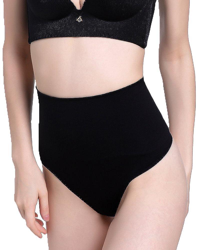DODOING Damen Body Shaper StringBauchweg String Tanga Figurformende Unterwäsche Shapewear Miederslip Y228-DEAB