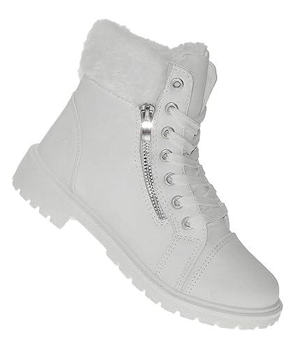 6e06f086f8ea8a Bootsland 627 Winterstiefel Damenstiefel Winterschuhe Damen Snow White   Amazon.de  Schuhe   Handtaschen