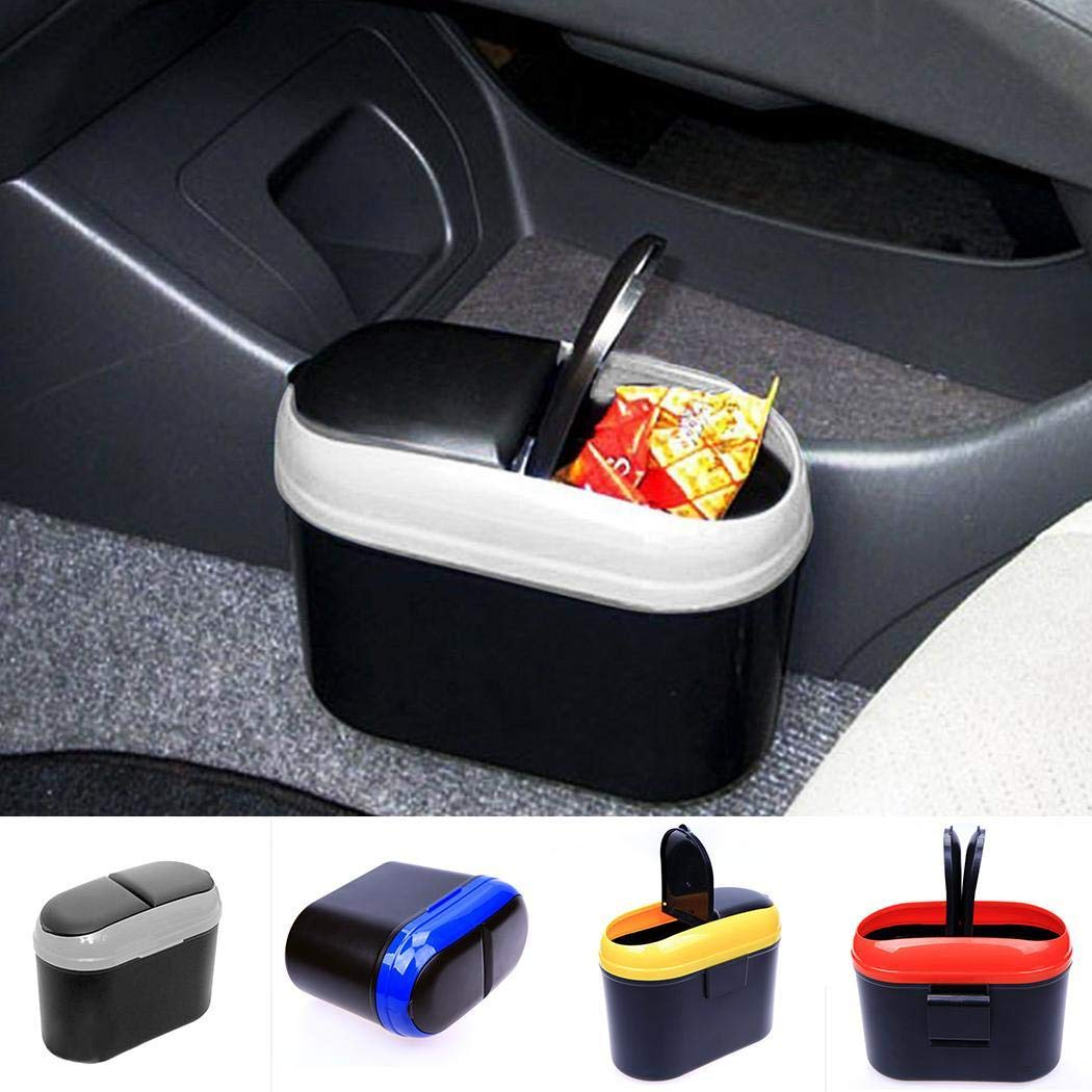 MURIEO Car Trash Can Double Opening Blanket Waterproof Garbage Bag Organizer Trash Can Leakproof for On The Go
