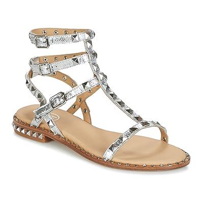Ash Sandales 41 Footwear Moon Femme Argent Cuir En Chaussures Poison eordCxB