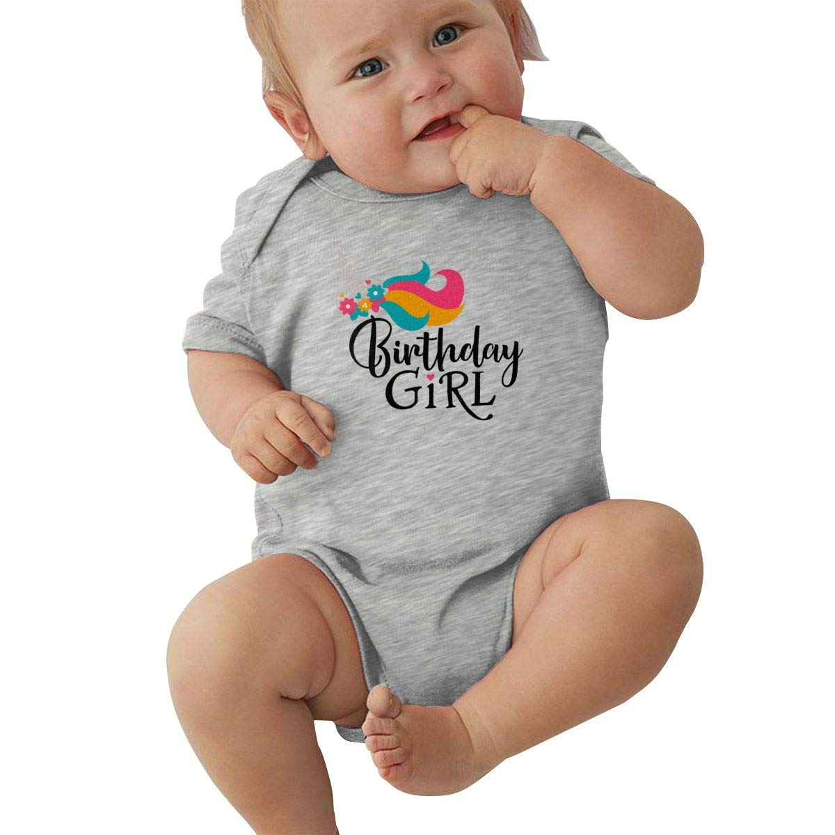 Infant Baby Boys Bodysuit Short-Sleeve Onesie Unicorn Birthday Girl Print Rompers Spring Pajamas