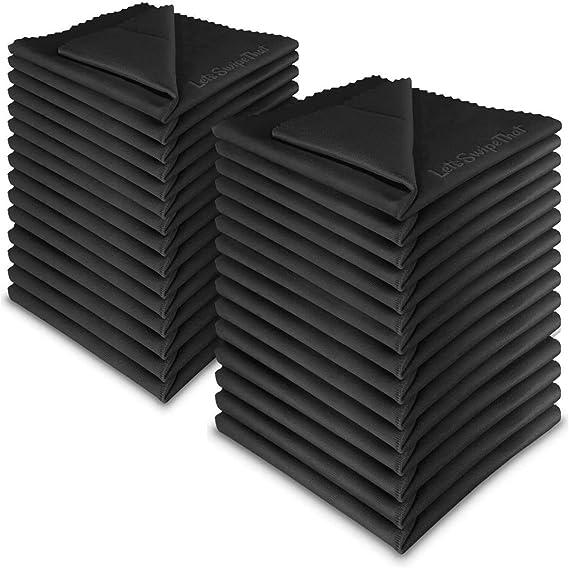 30x Letsswipethat Mikrofasertücher 20x20 Cm Mikrofaser Brillenputztuch Kamera Objektiv Microfaser Reinigungstücher Lcd Led Tv Bildschirm Microfasertuch Reinigung Laptop Pc Display Reiniger Tuch Bürobedarf Schreibwaren