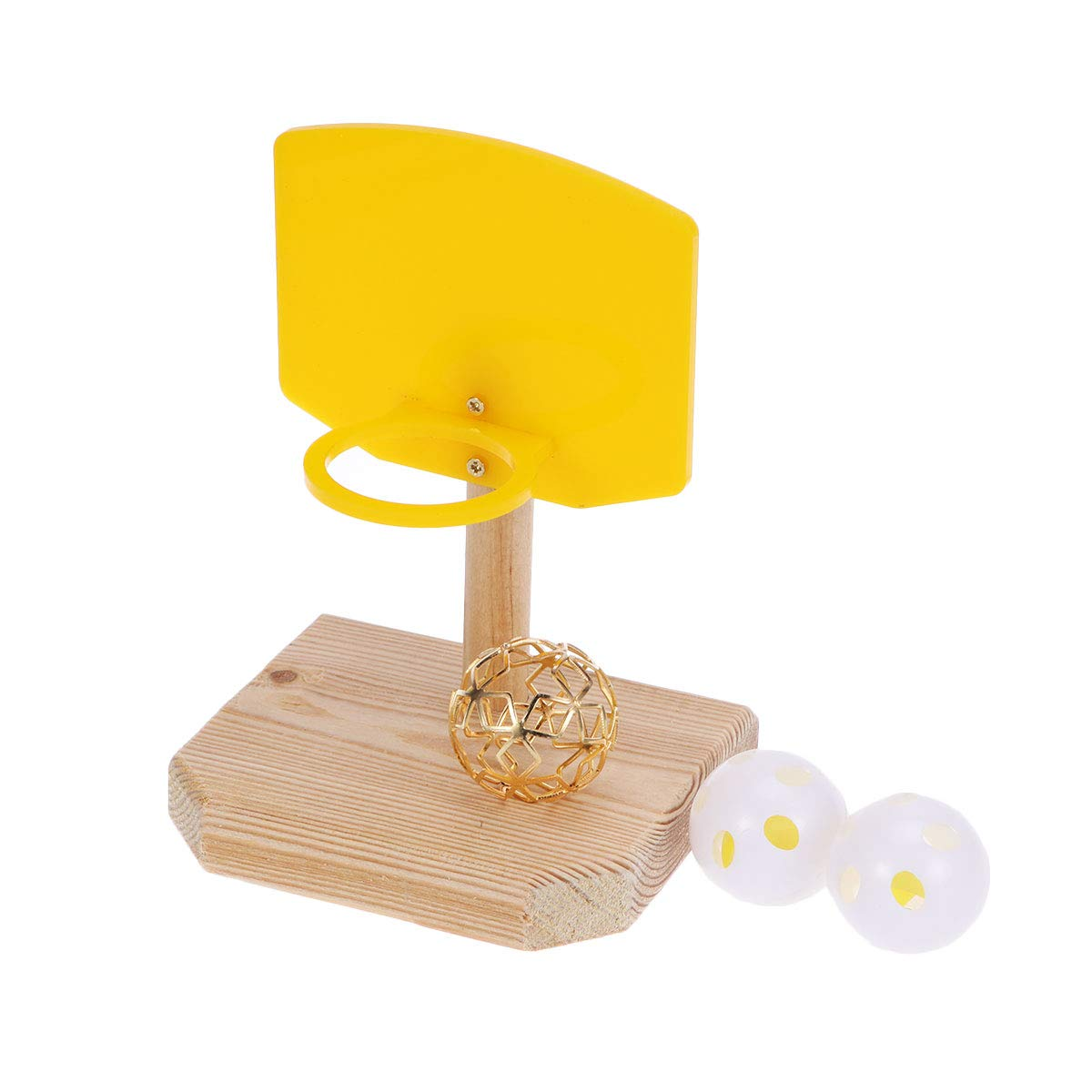 POPETPOP Parrot Basketball Toy Pet Birds Chew Toy Parrot Training Basketball Hoop Prop Toy by POPETPOP