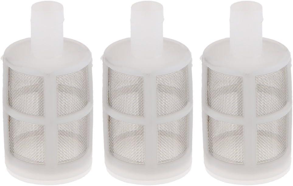 perfk Filtro de Bomba de Agua de 3 Piezas Adecuado para Pulverización Lavadoras de Automóviles Bomba de Agua Elaboración de Vino