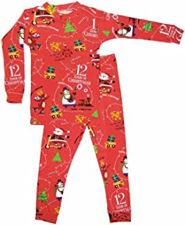 product image for Books to Bed 12 Days of Christmas Boys Long Sleeve Pajama Set