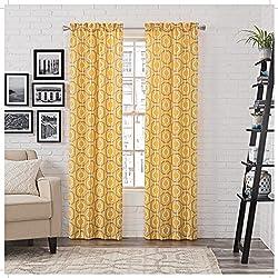 Pairs to Go 16386056X095YEL Arlene 56-inch by 95-inch Window Panel Pair, Yellow