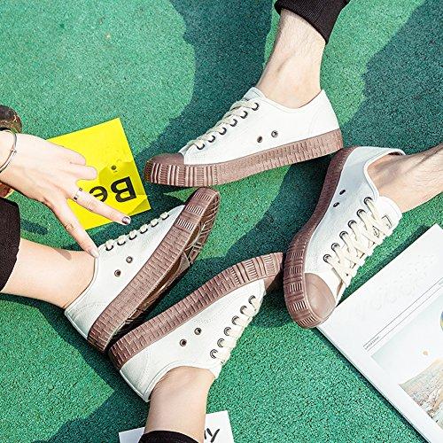 07 and Ups Casual Shoes Canvas Lace Men Women for Trainers Fashion Cut Sneaker Low Amint Shoes Sports Unisex White 8q4UZ4w