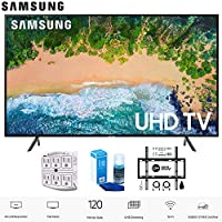 Samsung 75NU7100 75 NU7100 Smart 4K UHD TV 2018 with Wall Mount + Cleaning Kit (UN75NU7100)