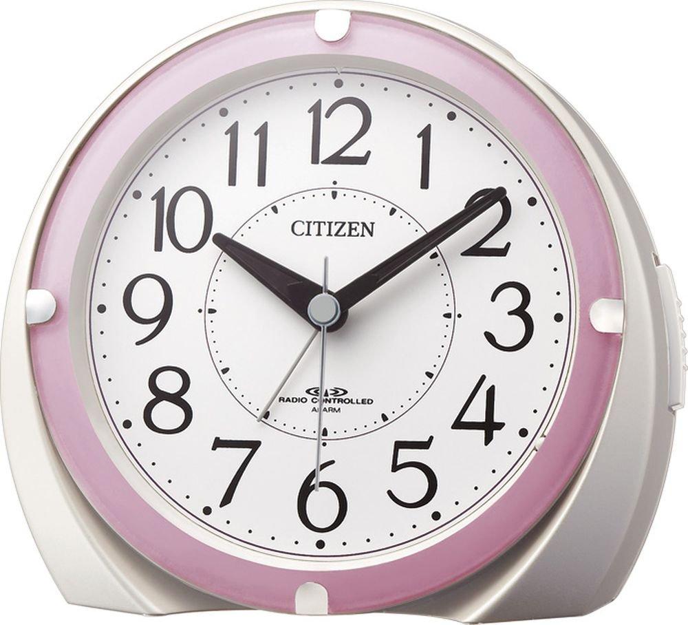 CITIZEN ( シチズン ) 電波 目覚まし 時計 ジャストアラーム 誤差 ±0秒 ( 電波受信時 ) ピンク 4RL431-N13 B00IRTAJIEピンク