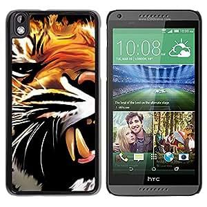 - Tiger wild animal - - Monedero pared Design Premium cuero del tirš®n magnšŠtico delgado del caso de la cubierta pata de ca FOR HTC DESIRE 816 Funny House