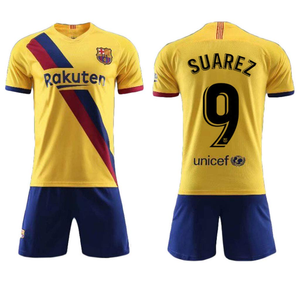 HAOHAOWU Camiseta del F/útbol Messi N/º 10 Messl De Barcelona De F/útbol Traje Traje Camisa De Deporte Jersey De F/útbol para Adultos Absorbente De Sudor Seco C/ómodo